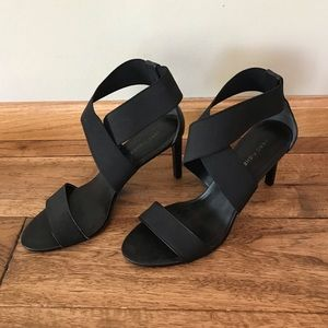 Marc Fisher Black Wrap Heels
